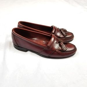 Cole Haan Red Tassel Loafers Size 8